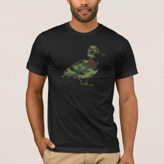 迷彩柄のアヒルのTシャツ Tシャツ