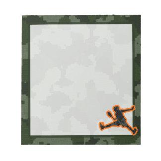 迷彩柄のテニス ノートパッド