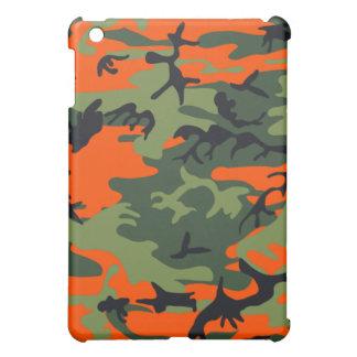 迷彩柄のネオンオレンジ iPad MINIケース