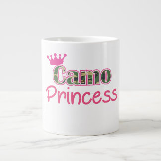 迷彩柄のプリンセスのコーヒーのマグのかわいいカムフラージュの女性 ジャンボコーヒーマグカップ
