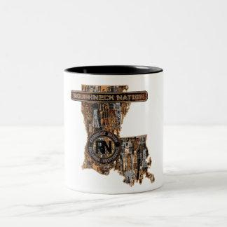 迷彩柄の上のルイジアナの装備 ツートーンマグカップ