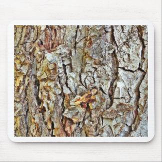 迷彩柄の樹皮 マウスパッド