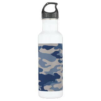 迷彩柄の濃紺の自由Bottleworks ウォーターボトル
