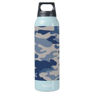 迷彩柄の濃紺の自由Bottleworks 断熱ウォーターボトル