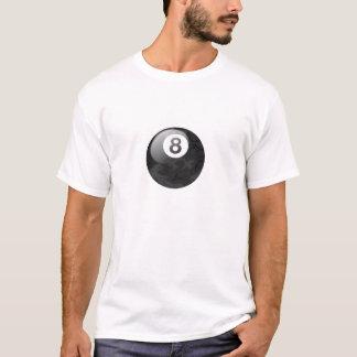 迷彩柄の版8球のティー Tシャツ