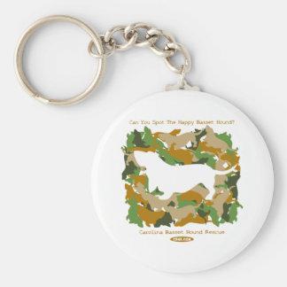 迷彩柄の猟犬 キーホルダー