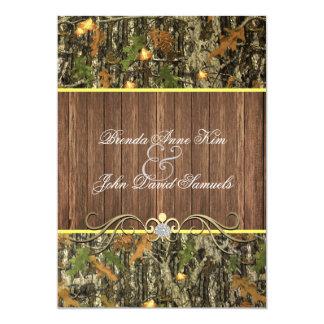 迷彩柄の素朴な結婚式招待状 カード