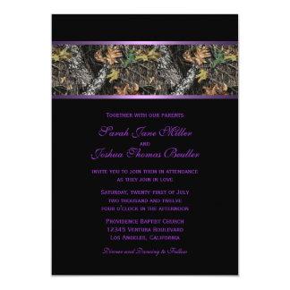 迷彩柄の結婚式招待状 カード