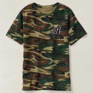 迷彩柄の(ユニセックスな) Tシャツ