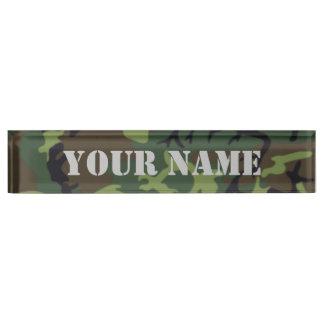 迷彩柄-軍隊の緑の版ネームプレート デスクネームプレート