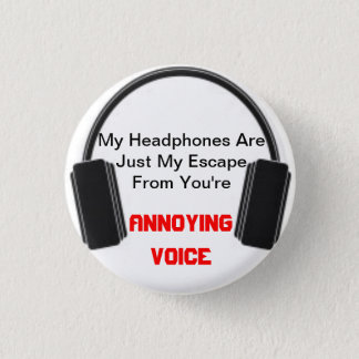 迷惑な声のヘッドホーン 缶バッジ