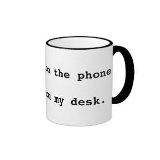 迷惑な電話のメッセージ リンガーマグカップ