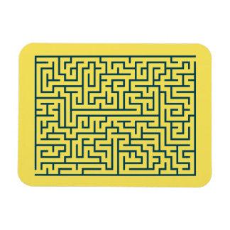 迷路の当惑のn° 17の薄黄色の紺碧 マグネット