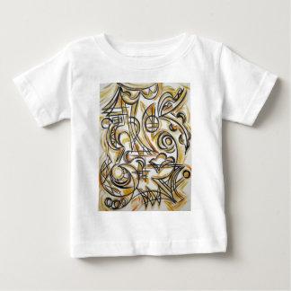 迷路-手塗り抽象美術の中 ベビーTシャツ