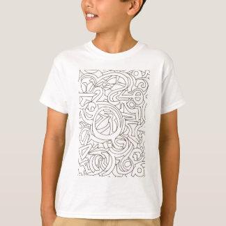 迷路-白黒近代美術 Tシャツ