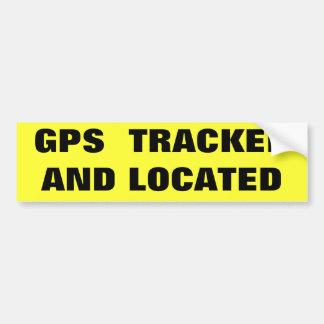 追跡され、見つけられるGPS バンパーステッカー