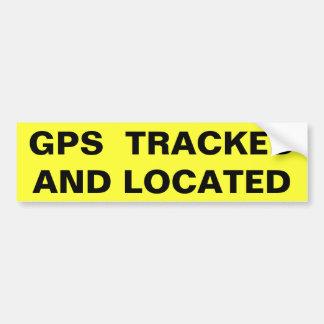 追跡され、見つけられるGPS (フォリオのはっきりした) バンパーステッカー