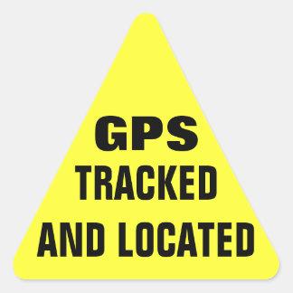 追跡され、見つけられるGPS 三角形シール