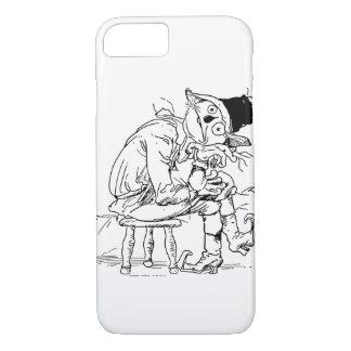 退屈させたオズの魔法使いのかかしのヴィンテージの絵 iPhone 8/7ケース