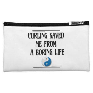 退屈な生命からの私を救われるカール コスメティックバッグ