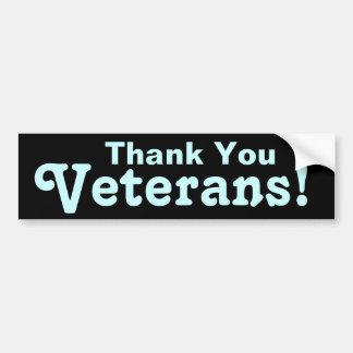 退役軍人ありがとう! バンパーステッカー