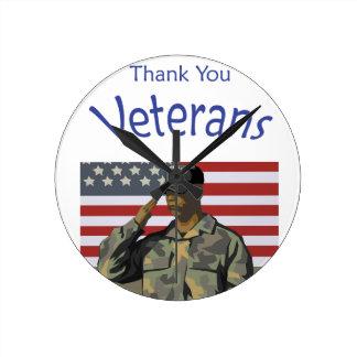 退役軍人ありがとう ラウンド壁時計