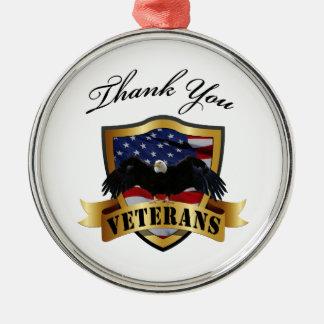 退役軍人のオーナメントありがとう メタルオーナメント