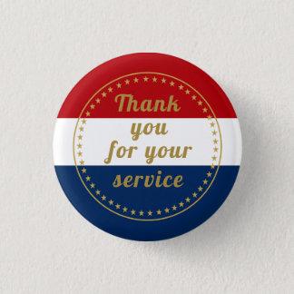 退役軍人の現役の任務の憲兵は感謝していしています発射します 3.2CM 丸型バッジ