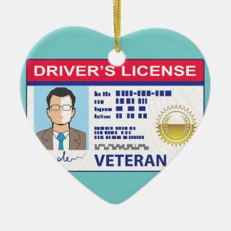 退役軍人の運転免許証 セラミックオーナメント