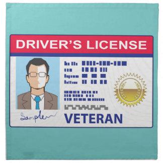 退役軍人の運転免許証 ナプキンクロス