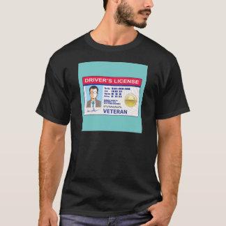 退役軍人の運転免許証 Tシャツ