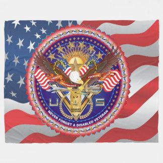 退役軍人のDAVによって不具にされるアメリカの退役軍人の眺め約 フリースブランケット