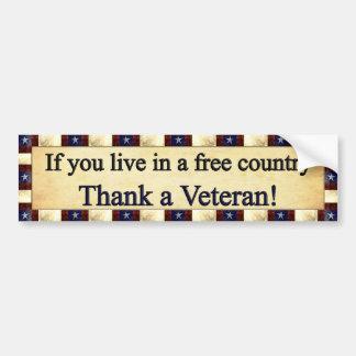 退役軍人を感謝していして下さい バンパーステッカー