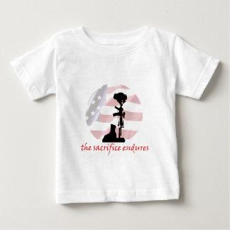 退役軍人サポートデザイン ベビーTシャツ