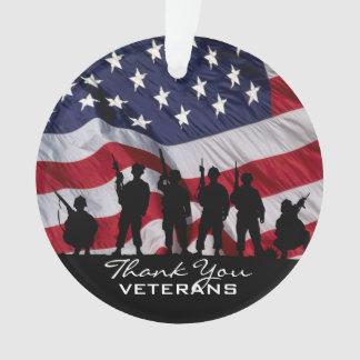 退役軍人-兵士のシルエットありがとう オーナメント