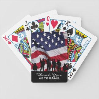 退役軍人-兵士のシルエットありがとう バイスクルトランプ