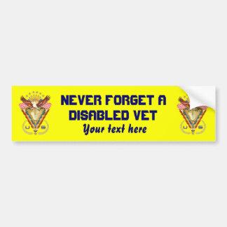 退役軍人DAVの意見の芸術家は次コメントします バンパーステッカー