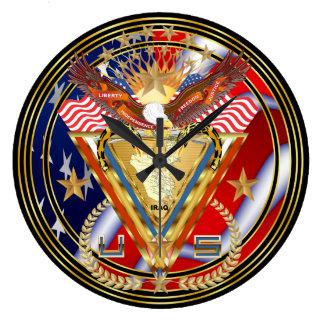 退役軍人DAVの意見の芸術家は次コメントします ラージ壁時計