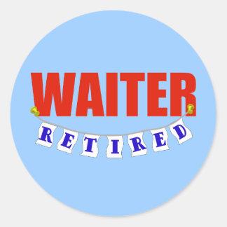 退職したなウェイター ラウンドシール