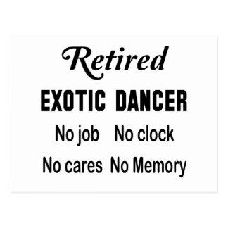 退職したなストリッパー仕事無し時計無し心配無し ポストカード
