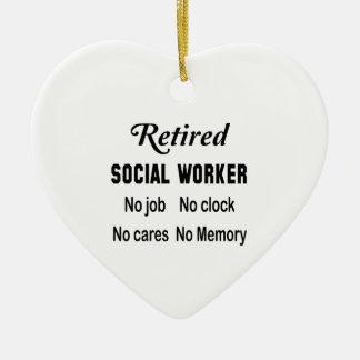 退職したなソーシャルワーカー仕事無し時計無し心配無し セラミックオーナメント