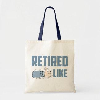 退職したな予算のトート トートバッグ