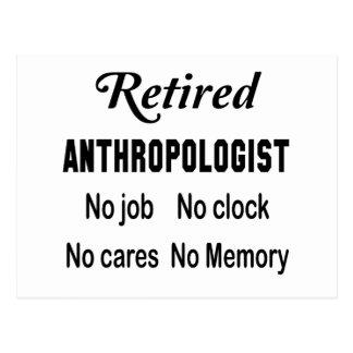 退職したな人類学者、仕事無し時計無し心配無し ポストカード