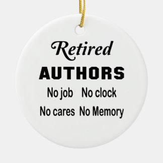 退職したな作家、仕事無し時計無し心配無し セラミックオーナメント