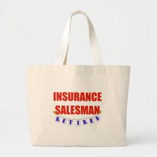 退職したな保険勧誘員 ラージトートバッグ