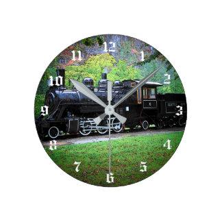 退職したな列車エンジン ラウンド壁時計