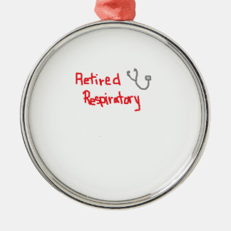 退職したな呼吸療法士 メタルオーナメント