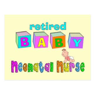 退職したな新生児のナースのギフト ポストカード