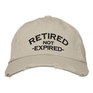 退職したな期限切れの刺繍された帽子 刺繍入りキャップ