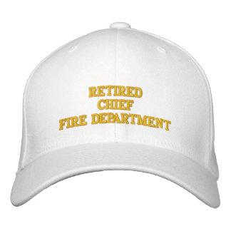 退職したな消防所長の帽子 刺繍入りキャップ
